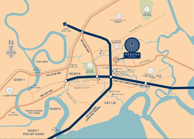 Cận cảnh dự án Verosa Park quy mô 8.1 ha, đang bàn giao đợt 1