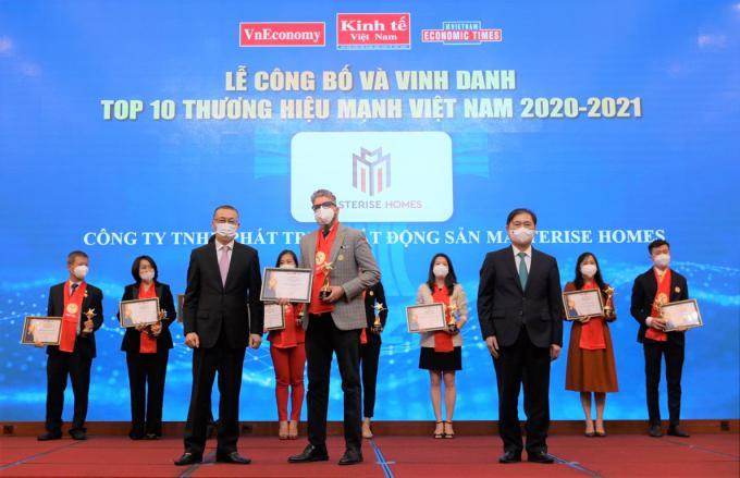 Masterise Homes vào Top 10 thương hiệu mạnh Việt Nam
