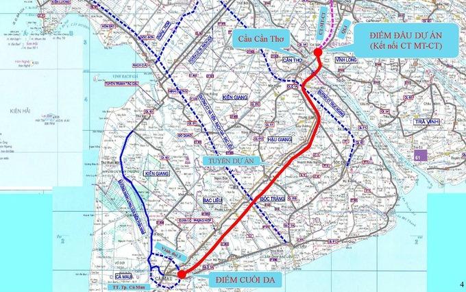 Dự kiến khởi công cao tốc Cần Thơ - Cà Mau năm 2022