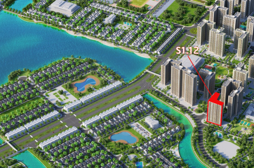S1.12 - tòa căn hộ hướng hồ trung tâm tại Vinhomes Ocean Park